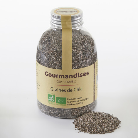 Graines de Chia biologiques, 395 g