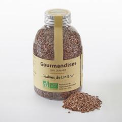 Graines de Lin brun biologiques, 395 g