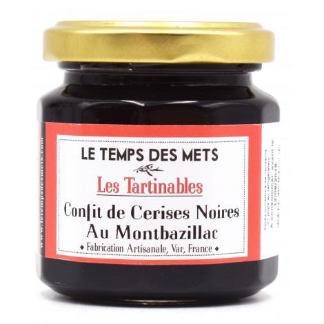 Confit de cerises noires au monbazillac 125g