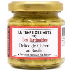 Délice de chèvre basilic (préparation à base de courgettes, fromage de chèvre, ail et basilic) 100g