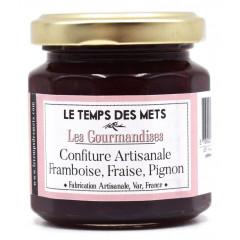 Confiture framboises fraises pignons 125 g