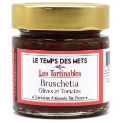 Bruschetta (olives noires et vertes, tomates, poivrons) 180g