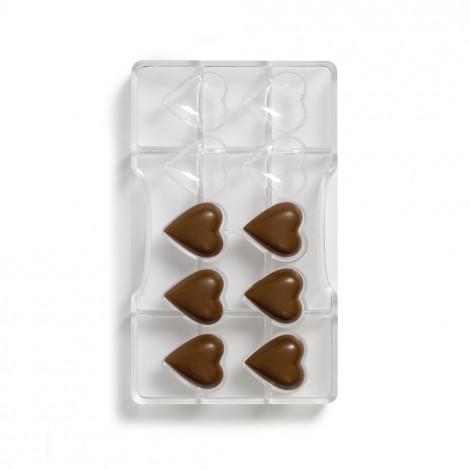 Moule à chocolat – 10 coeurs bombés