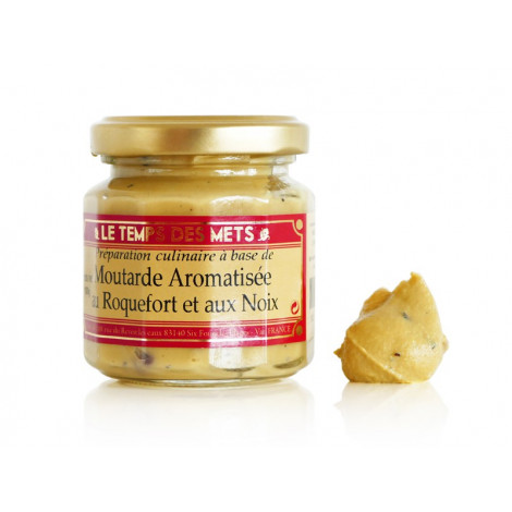 Moutarde aromatisée au roquefort et noix 100 g