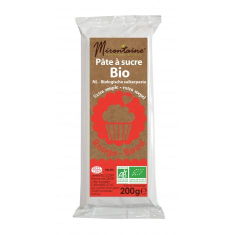 Pâte à sucre rouge bio 200g