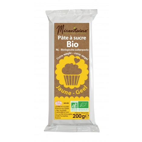 Pâte à sucre jaune bio 200g