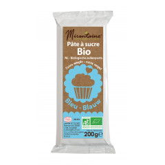 Pâte à sucre bleue bio 200g