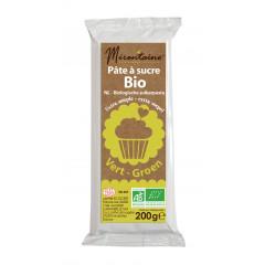 Pâte à sucre verte bio 200g
