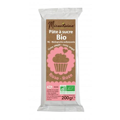 Pâte à sucre rose bio 200g