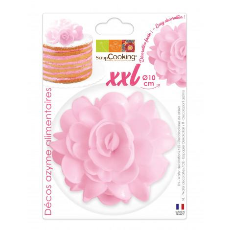 Fleur azyme rose XXL