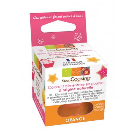 Colorant poudre origine naturelle orange