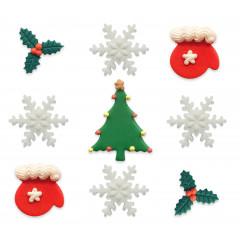 Joyeux Noël - Assortiment 9 décors sucrés