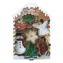 Kit de 7 découpoirs de Noël 7,6 à 10,2 cm