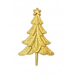 Lot de 6 décorations: Sapins de Noël dorés