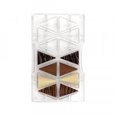 Moule à chocolat: 7 cônes 3D