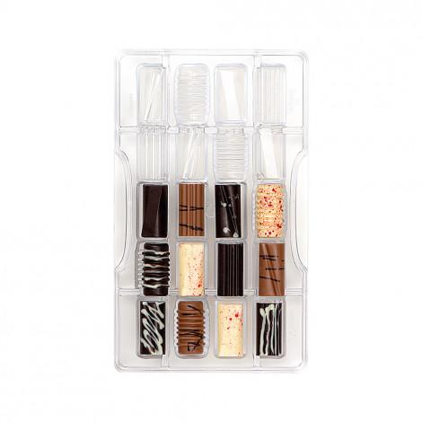 Moule à chocolat: 20 rectangles