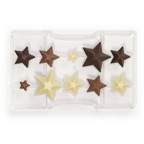 Moule à chocolat: 10 étoiles