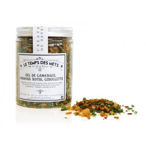 Mélange sel de Camargue, oignons rôtis, ciboulette 150 g