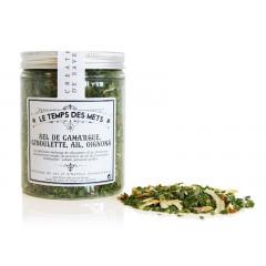 Mélange sel de Camargue, ciboulette, ail, oignons 100 g