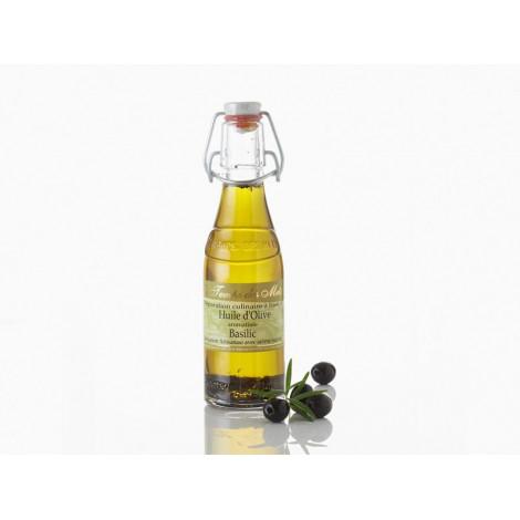 Huile d'olive aromatisée au basilic 20 cl