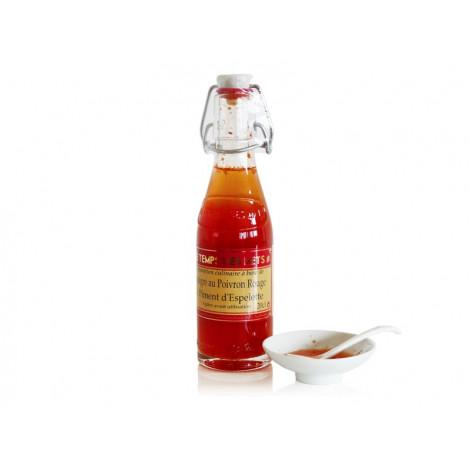 Vinaigre à la pulpe de poivron rouge et piment d'Espelette 20 cl