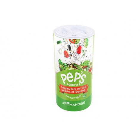 Pep's paillettes bio : salades, légumes 80g