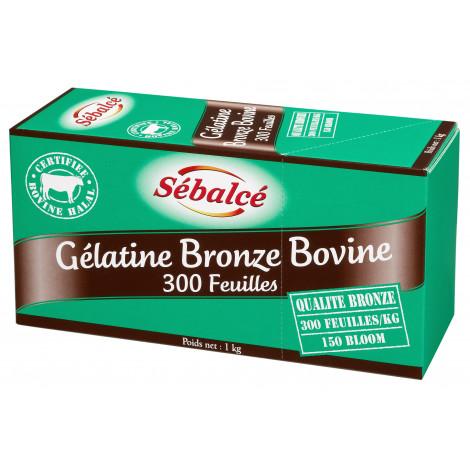 Gélatine Bovine Bronze 300 feuilles (1kg)