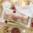 Toile décor Flocons pour moule bûche FLEXIPAN® INSPIRATION