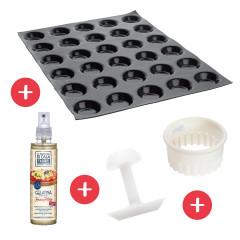 Pack essentiel Moule 30 Mini tartelettes FLEXIPAN® ORIGINE