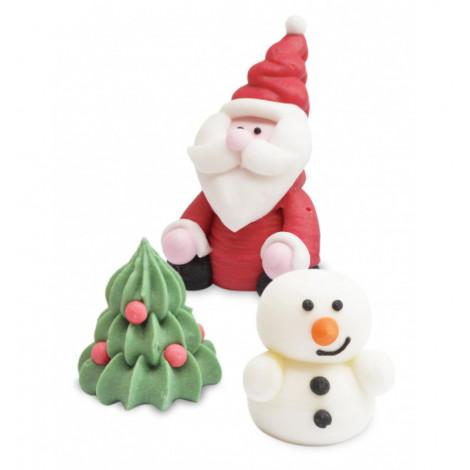 Décors 3D en sucre Noël