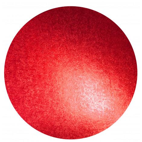 Plateau à gâteau rouge, diam 25 cm