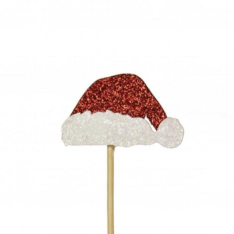 Lot de 12 décorations: chapeaux de Père Noël 3,5 cm