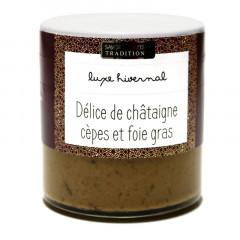 Délice de châtaigne aux cèpes et foie gras