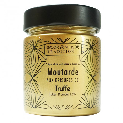 Moutarde Très OR aux brisures de truffe tuber brumale 1,2%