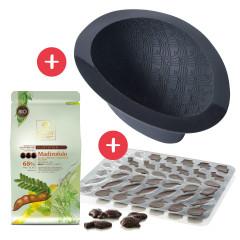 Kit Oeuf de Pâques FLEXIPAN® INSPIRATION Chocolat noir