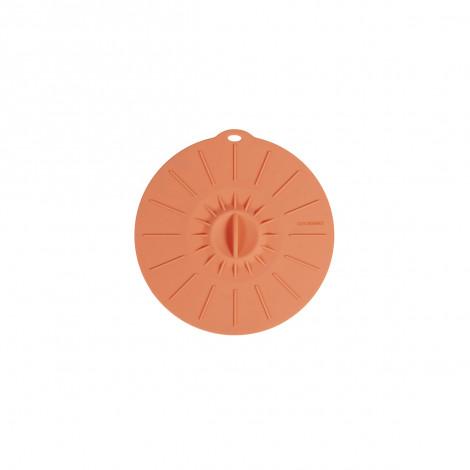 Couvercle en silicone hermétique - Diamètre 15 cm - corail