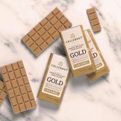 Minis tablettes - Napolitains chocolat blanc au caramel - 13,5G - 75 pièces
