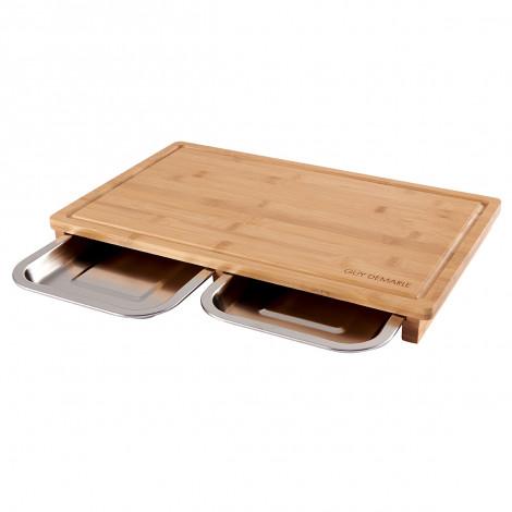 Planche à découper avec tiroir inox