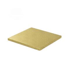 Plateau carré doré 35cm
