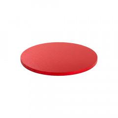 Plateau rond rouge Diamètre 25cm