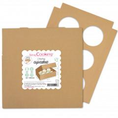 2 Boites 6 cupcakes - 17x25x8,5 cm
