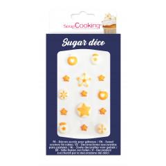 """Décors en sucre """"déco dorée """""""