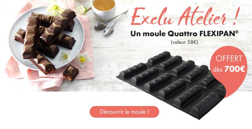 OFFERT dès 700€ - Moule Quattro FLEXIPAN® - EXCLU ATELIER