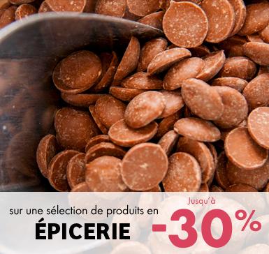 sur une sélection de produits en épicerie jusqu'à -30%