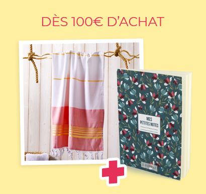 DÈS 100€ D'ACHAT - Fouta de plage + Carnet de notes Liberty
