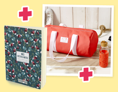 Sac bowling + Gourde corail + Carnet de notes Liberty