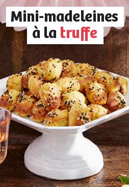 Mini-madeleines à la truffe