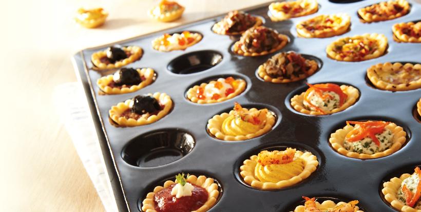 Réaliser des mini-tartelettes gourmandes avec les moules FLEXIPAN® Guy Demarle
