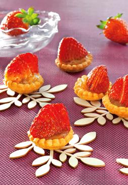Tartelettes rhubarbe fraise