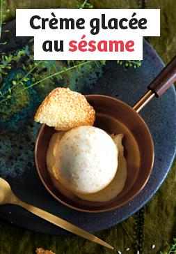 Crème glacée au sésame
